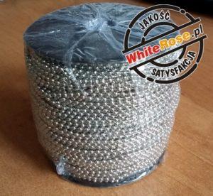 łańcuszek kulkowy niklowany na szpuli